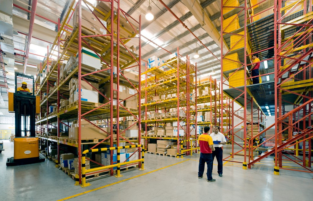 DHL employees in DHL Supply Chain warehouse