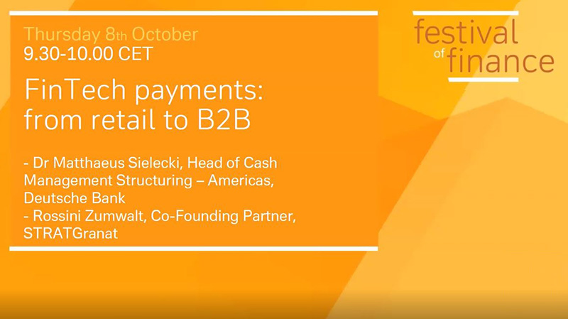 FinTech payments: from retail to B2B
