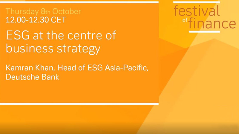 ESG at the centre of business strategy
