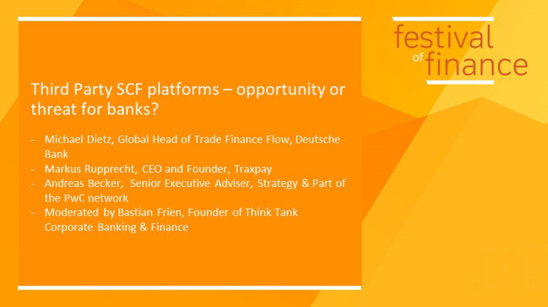 Supply chain finance platforms – opportunity or threat for banks?