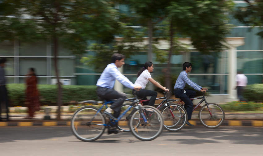 Bicyclers in India